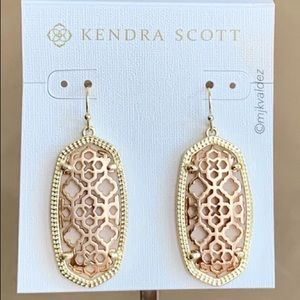 NEW✨Kendra Scott Elle Filigree Drop Earrings